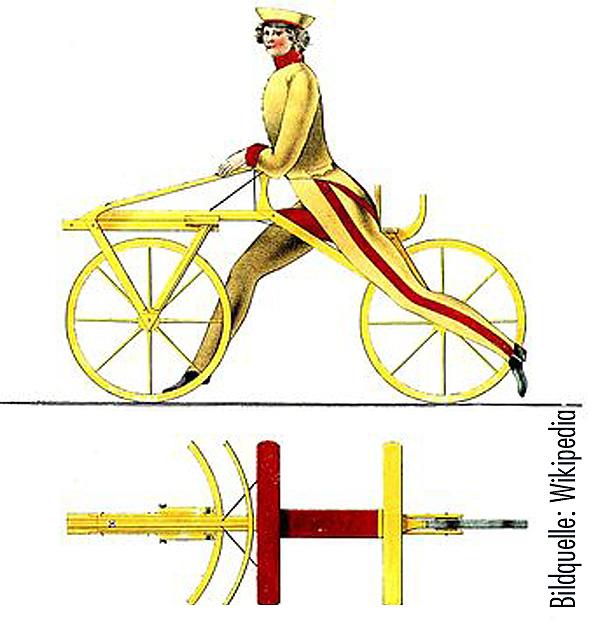 Drais Laufrad Fahrrad Jubiläum