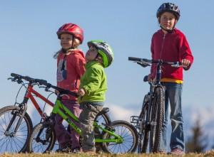 KU-Bikes mit drei Kindern
