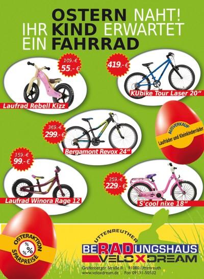Anzeige Ostern Kinderräder